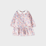Paul Smith Baby Girls' Floral 'Maisy' Dress With White Collar