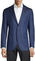 Saks Fifth Avenue Regular-Fit Textured Wool & Silk Blazer
