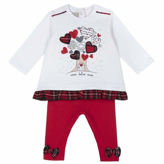 Chicco Baby Girls' Completino Felpa + Leggings Suit-Dress Set