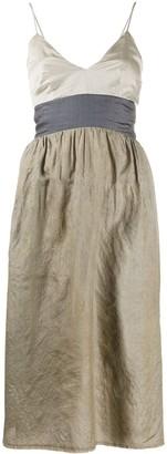 Phaedo Studios Contrasting Panel Midi Dress