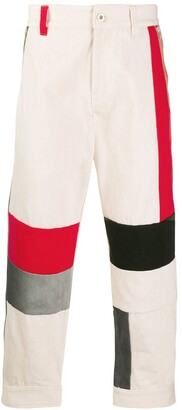 Diesel Red Tag Colour Block Trousers