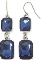 JCPenney MONET JEWELRY Monet Blue Crystal Silver-Tone Double-Drop Earrings