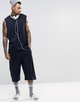 Asos Basketball Shorts In Textured Fabric