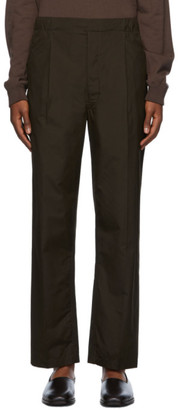 Lemaire Khaki Pleated Drawstring Trousers