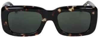 Linda Farrow x the attico marfa rectangular tortoiseshell sunglasses