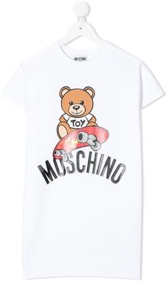MOSCHINO BAMBINO Teddy Bear logo T-shirt dress