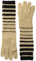 Lauren Ralph Lauren Boiled Wool Striped Gloves
