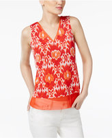 INC International Concepts Petite Layered-Look Printed Top, Only at Macy's