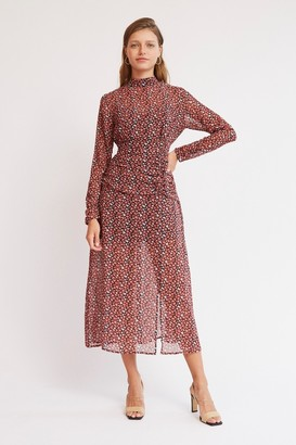 Finders Keepers AMOUR LONG SLEEVE DRESS Black Petal