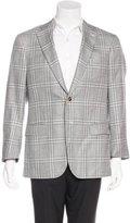 Isaia Plaid Wool & Silk Sport Coat