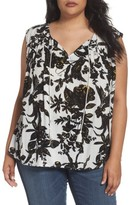 Plus Size Women's Caslon Print Sleeveless Top
