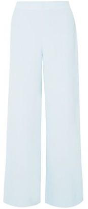 Roland Mouret Glover Embroidered Cloque Wide-leg Pants