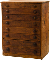 Rejuvenation Weathered 8-Drawer General Store Cabinet c1920