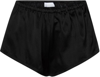 ASCENO Venice silk satin shorts