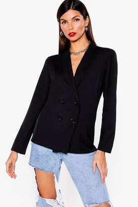 Nasty Gal Womens Working From Home Relaxed Double Breasted Blazer - Black - 6, Black