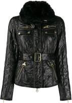 Barbour quilted belted biker jacket