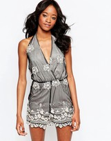 Glamorous Romper With Embroidered Detail