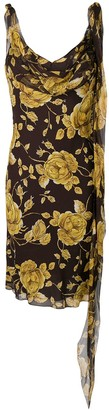 Christian Dior Pre Owned floral cut dress