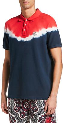 Moncler Men's Maglia Tie-Dye Polo Shirt