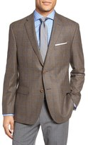 JB Britches Classic Fit Windowpane Wool Sport Coat