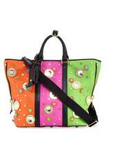 Moschino Trinket Colorblock Tote Bag, Multi