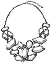Blu Bijoux Black and Crystal Freeform Bib Necklace