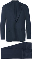 Lardini notched lapel two-piece suit - men - Cotton/Spandex/Elastane/Cupro/Llama - 48