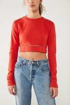 BDG Cutout Long Sleeve Cropped Tee