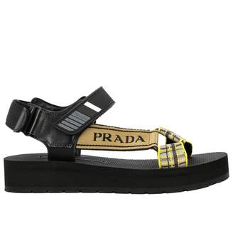 Prada Nomad Sandal With Multi-strap Buckles