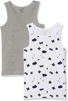 Name It Boy's Nkmtank Top 2p Grey Mel Noos Vest,pack of 2
