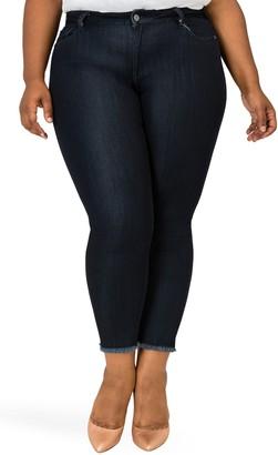 Poetic Justice Annalisa Raw Edge Crop Skinny Jeans