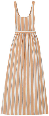 Brock Collection Oriana Striped Cotton-blend Maxi Dress