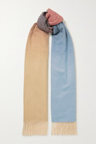 Thumbnail for your product : Johnstons of Elgin + Net Sustain Fringed Ombre Cashmere Scarf - Neutrals