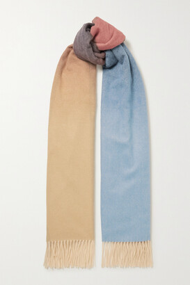 Johnstons of Elgin + Net Sustain Fringed Ombre Cashmere Scarf - Neutrals