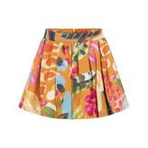 Oilily OililyGirls Orange Paint Print Silk Skirt