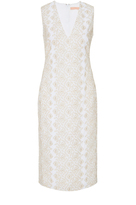 Brock Collection Diana Metallic Embroidered Dress