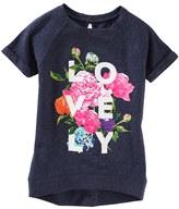 Osh Kosh Girls 4-8 Short Sleeve Rolled-Cuff Graphic Tunic