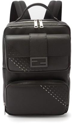 Fendi Roma Textured-leather Backpack - Mens - Multi