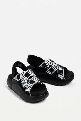 UGG LA Cloud Black Platform Sandals - Black UK 4 at Urban Outfitters