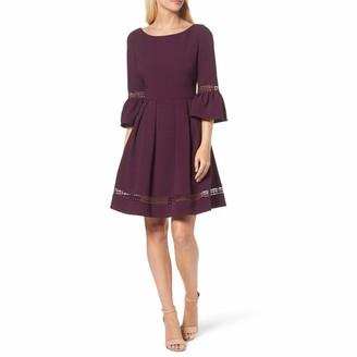 Eliza J Women's Bell Sleeve Fit and Flare Dress (Regular Petite Plus)