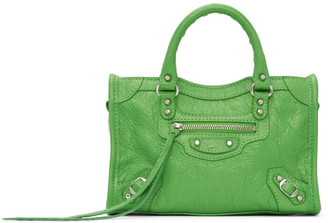 Balenciaga Green Nano City Bag