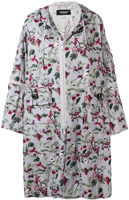 Undercover Printed Hooded Coat