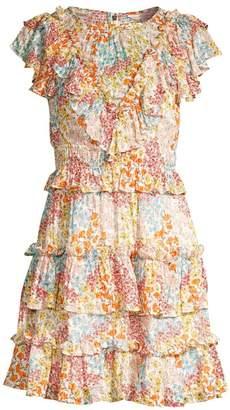 Rebecca Taylor Ava Silk & Cotton Ruffle Dress