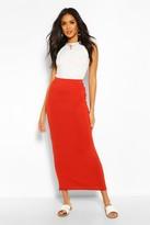 Boohoo Helena Contrast Waist Maxi Skirt
