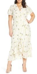 Rachel Roy Faux Wrap Midi Dress