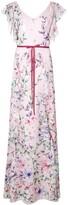 Marchesa floral long dress