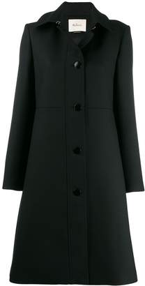 Mulberry buttoned single-breasted coat