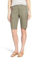 NYDJ Women's Catherine Linen Blend Bermuda Shorts