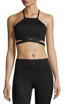 Michi Dusk Strappy Sports Bra, Black