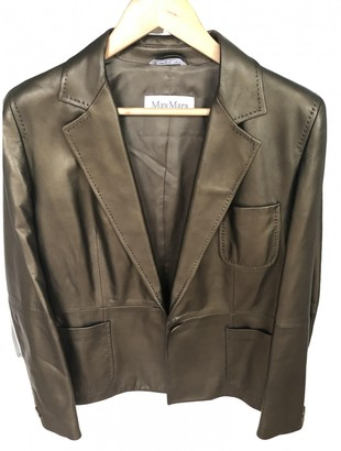 Max Mara Gold Leather Jackets